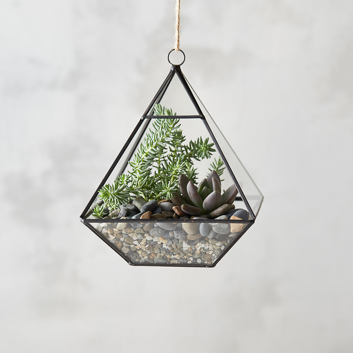 Framed Pyramid Hanging Terrarium Feng Shui Cures Decor Accents